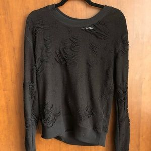 Iro Black Distressed Sweater